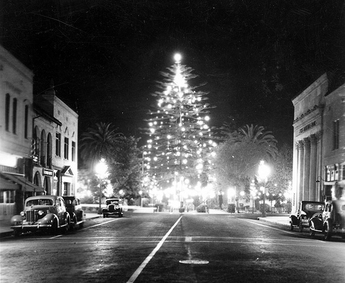 Downtown Orange, California, Dec. 1937